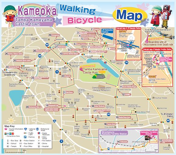 on kyoto walking tour map