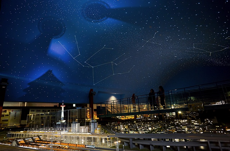 Kyoto Station and constellations