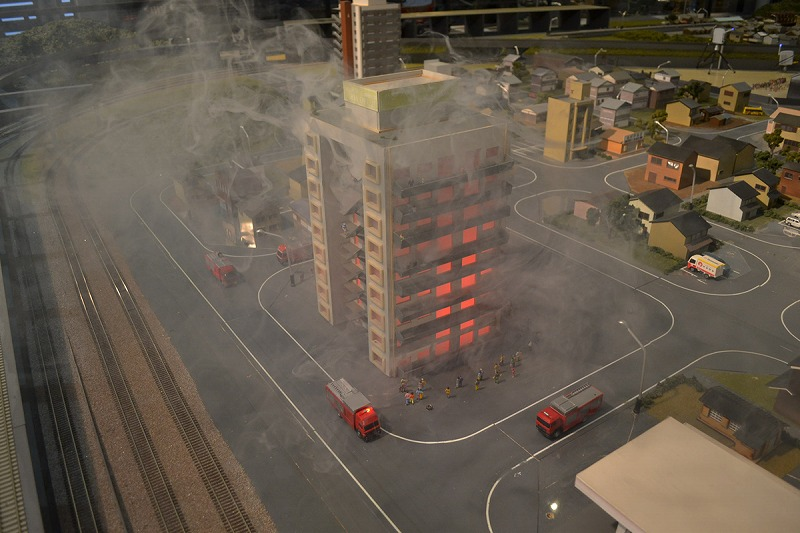 A fire in a building!