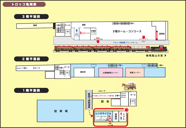 Kameoka Station Map
